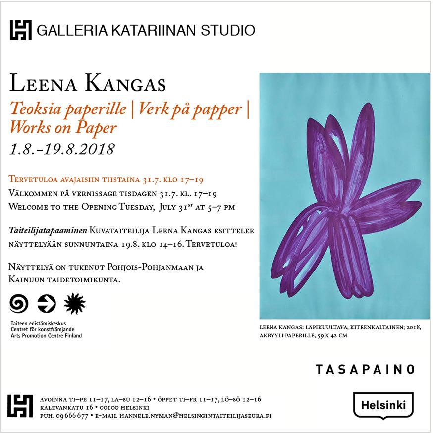 LeenaKangas_TEOKSIAPAPERILLE_poster