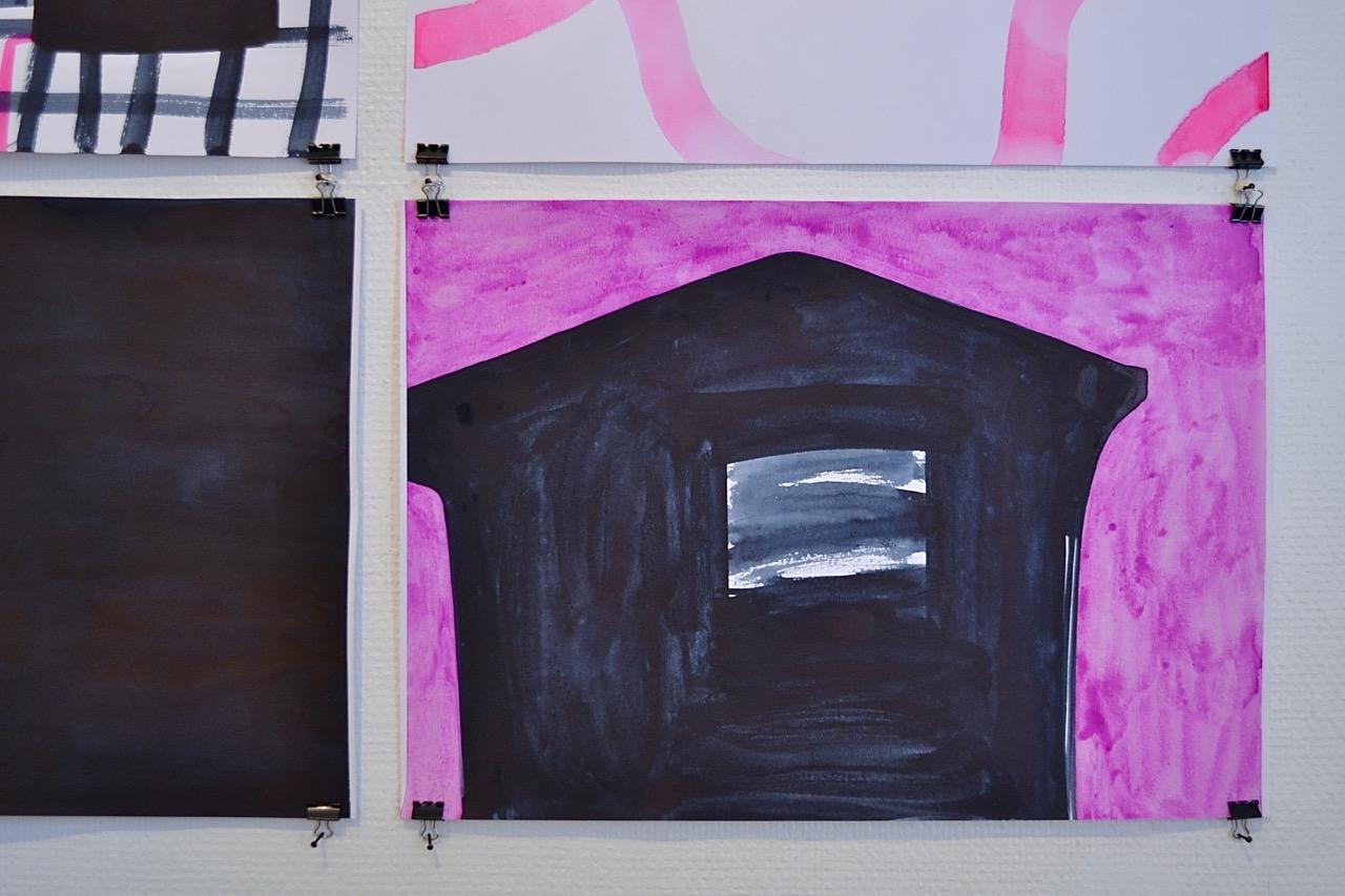 Place // Paikka, 2018, aquarelle on paper, 30 x 42 cm