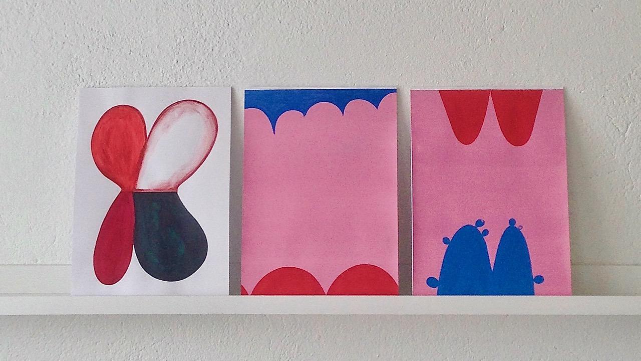 Aquarelles on paper // Akvarelleja paperille, 2018, à 30 x 21 cm