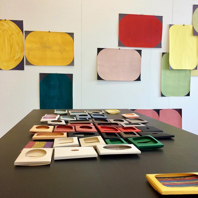 """Paintings and paperworks from the series """"I carried this picture"""" // Maalauksia ja paperiteoksia sarjasta """"Kannoin tämän kuvan"""", 2019"""