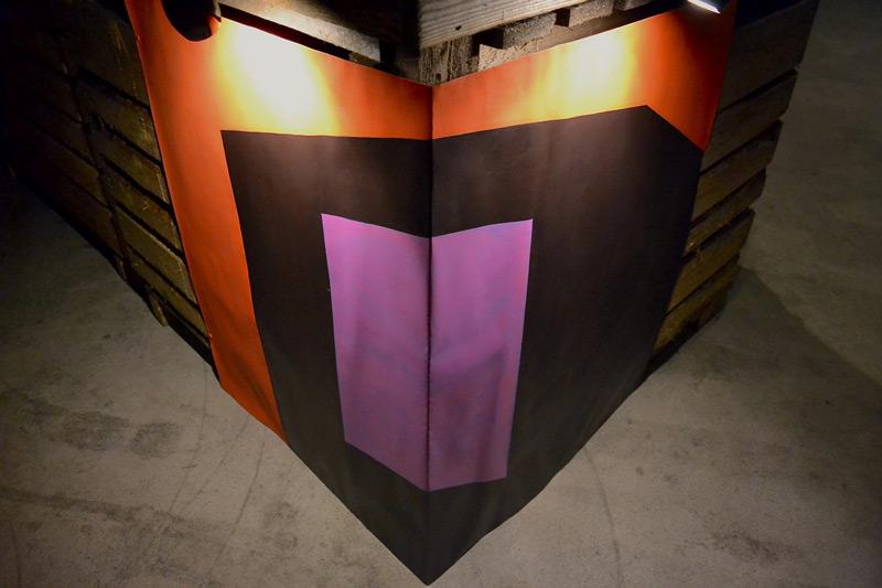 Corner III // Kulma III. Part of an installation in 1000 den vol. 2 exhibition in an empty potato hall at Tyrnävä, June 2015