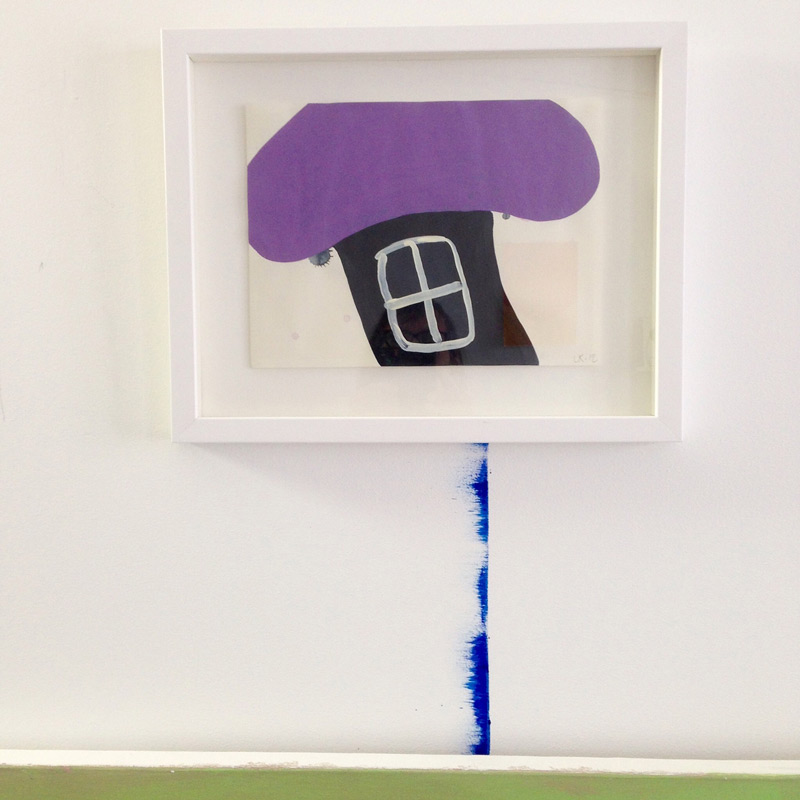 Dwelling // Asumus, 2013, acrylic on paper, 21 x 30 cm