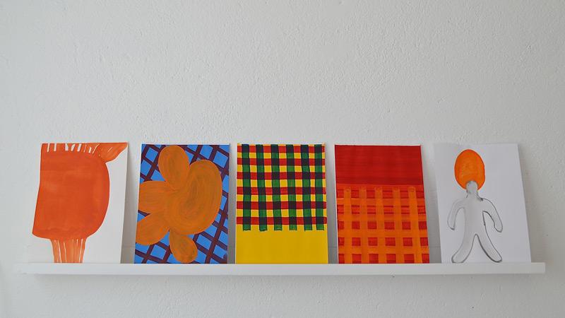 Series of small paintings on paper // Sarja pieniä maalauksia paperille
