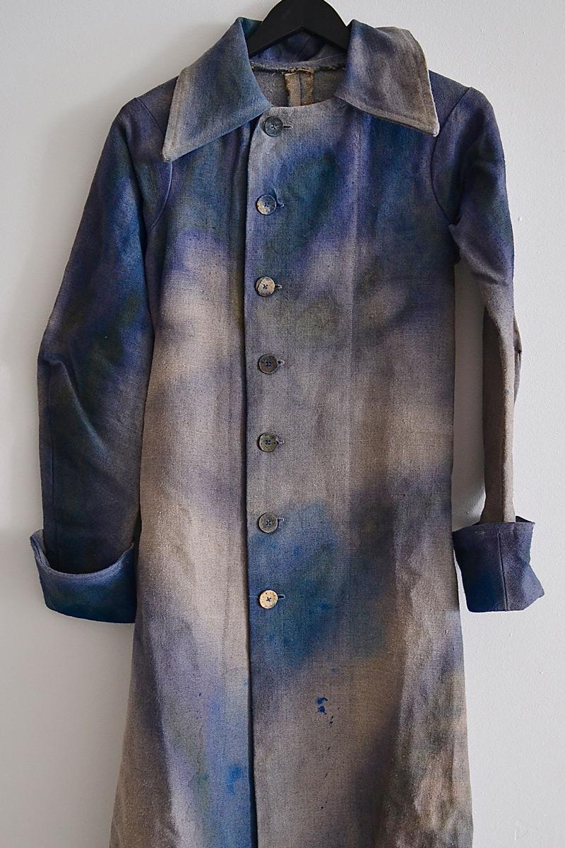 Ink Coat // Mustetakki, 1998. Linen, cotton thread, ink