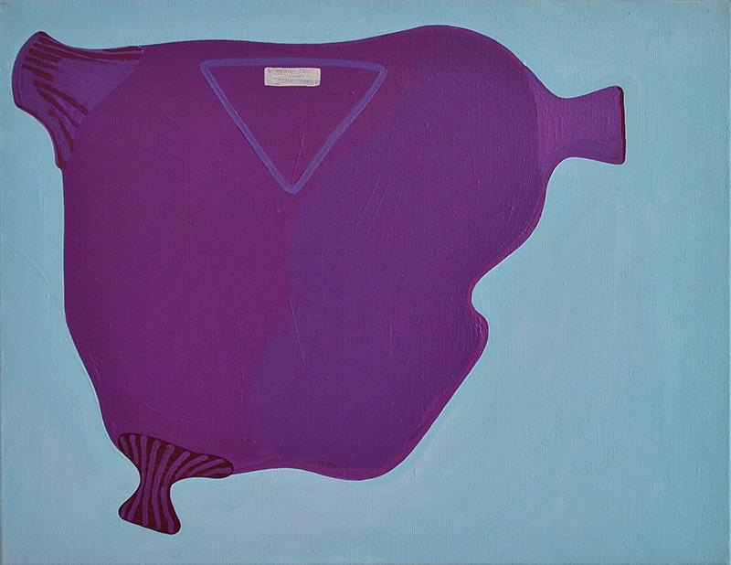 Mother's Purple Sweater // Äidin violetti pusero, 2007-2009, acrylic on canvas, 50 x 65 cm