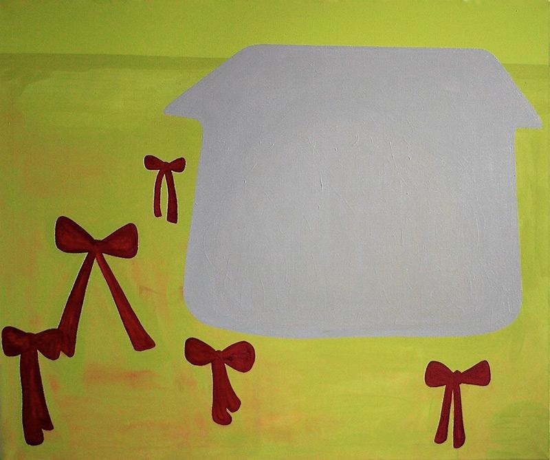 Yard with Award // Palkintopiha, 2009, acrylic and oil colour on canvas, 100 x 120 cm