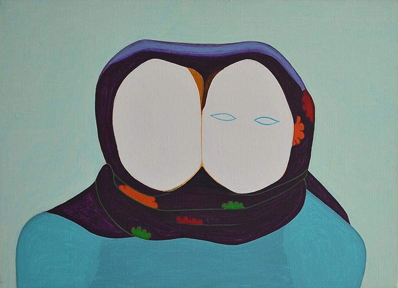 Glare // Häikäisy, 2005, acrylic on canvas, 50 x 70 cm
