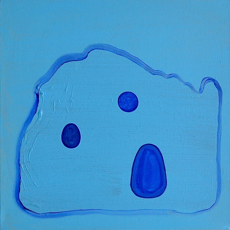Dunno (Much About the Blues), 2016, acrylic on canvas, 50 x 50 cm