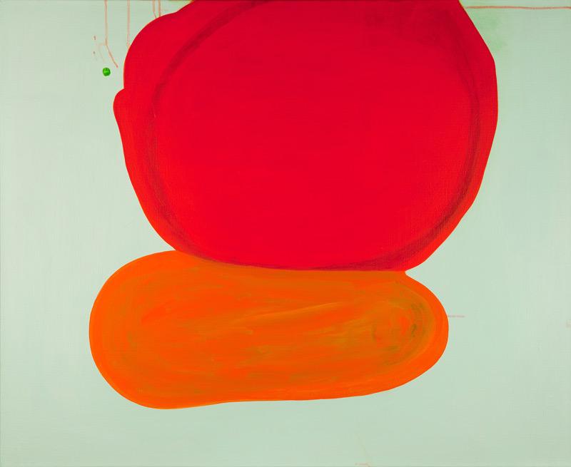 Painting on a Hot Day II // Maalaus kuumana päivänä II, 2013, acrylic on canvas, 82 x 100 cm. Photo: Seppo Hinkula