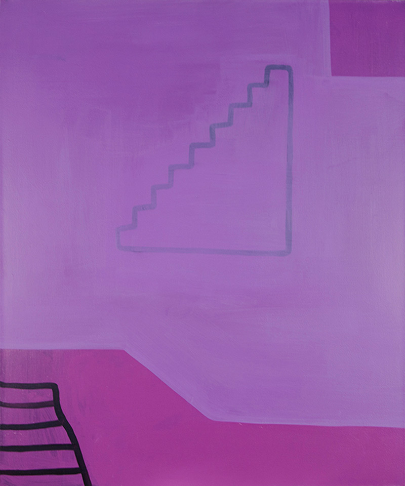 Purple Floor // Violetti kerros, 2013, acrylic on canvas, 120 x 100 cm (?). Photo: Seppo Hinkula