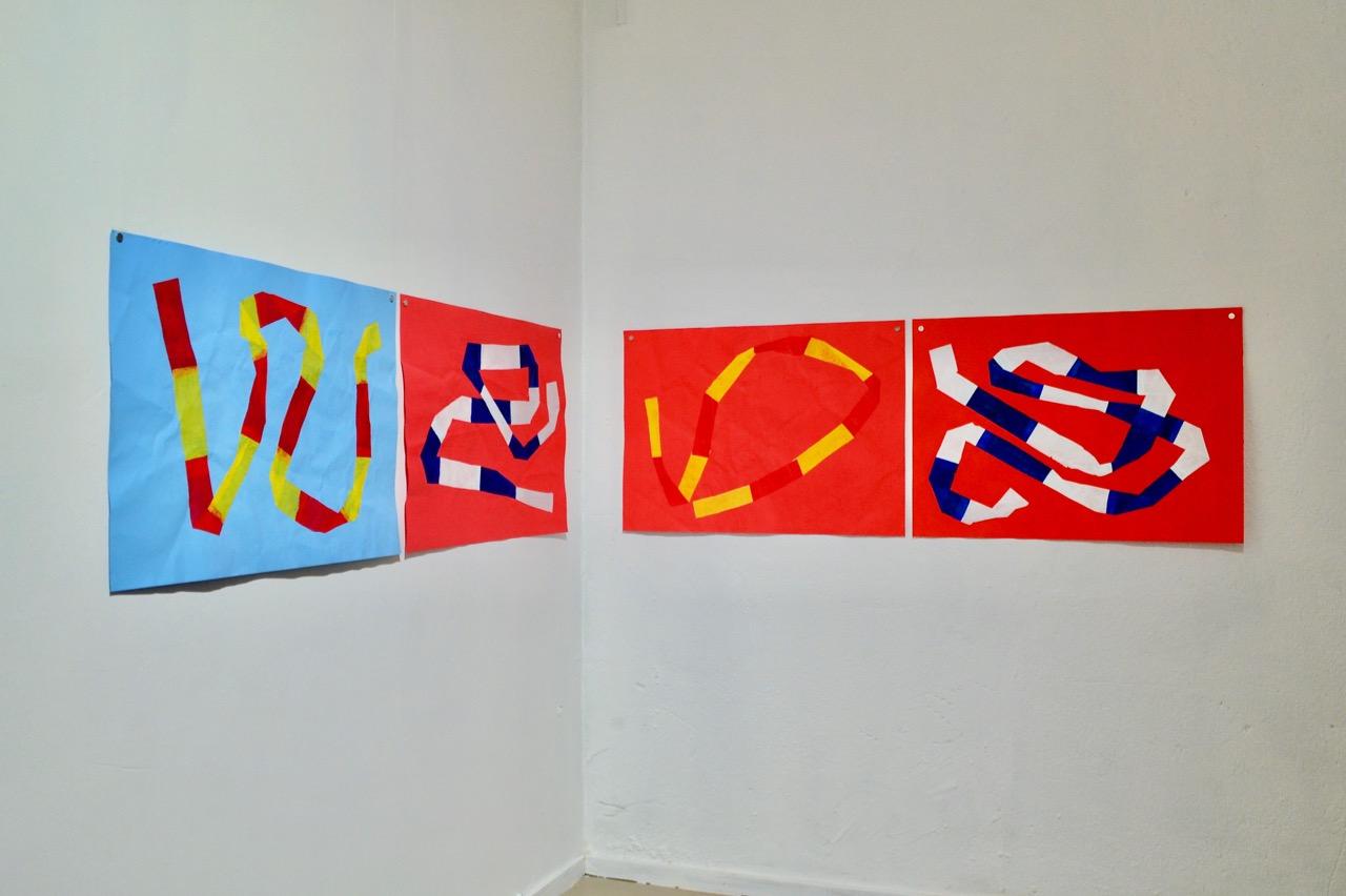 Parts of Isolation Series (2020) in exhibition // Eristesarjaa (2020) näyttelyripustuksessa