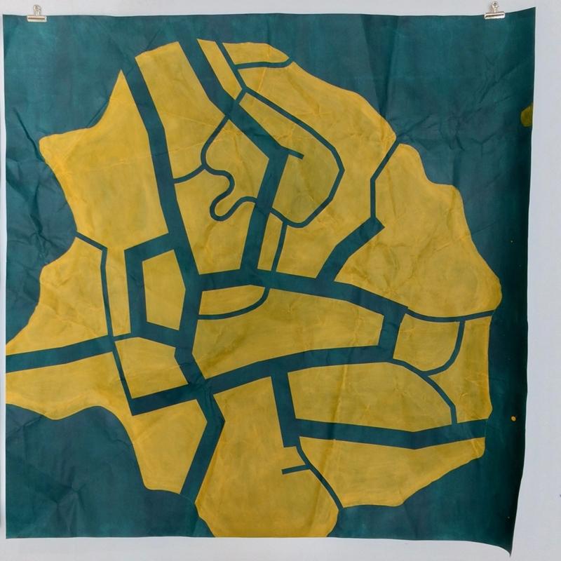 Tissue 1 // Kudos 1, 2020, acrylic on paper, 150 x 150 cm